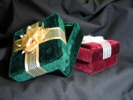 Velvet Gift Boxes 3 by FantasyStock