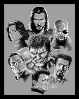 avengers sketch by lee-gorky