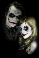 Joker and Harley by heatona