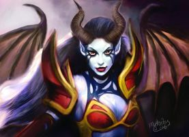 Queen of pain Dota 2 by MYSTERI0USCAT