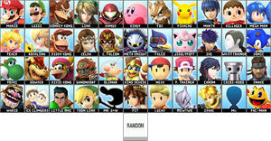 Predicted Super Smash Bros. for WiiU/3DS Roster by RoydGriffin