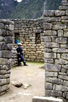 Worker of Machu Picchu by flavorfla