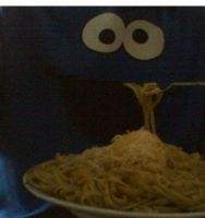cookie monster eat something else PASTAaaaaa! by l-l-l-l-l-l-l-l-l-l
