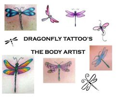 Dragonfly Tattoo Special by TheBodyArtist