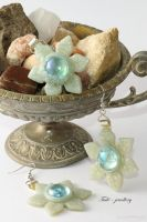 Spring snowflakes - Snow queen set 2 by Tuile-jewellery