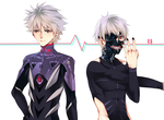 Kaworu x Kaneki by UltraCat7724