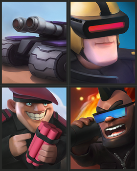 Clash Royal In Futuristic Setting by LimonTea