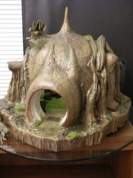 Yoda and His Hut 2 by BLUE-PROMETHEUS