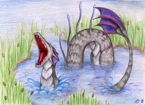 Swamp monster by NoreyDragon