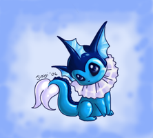 Vaporeon Feelin' Blue by Jiayi
