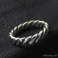 Viking/Celt silver ring by Sulislaw