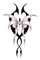 Tribal Butterfly 01 by Ashes360