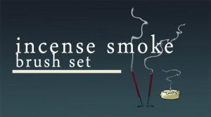 Incense smoke brush set by iisjahstock