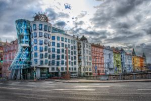 Prague, friends of Dancing House by alierturk