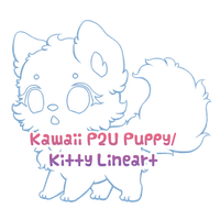 P2U Puppy/Kitty Lineart by Sarilain