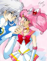 Rini and Yue Colored by sailormoon-crossover