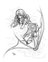 shallow water... sketch by sureya