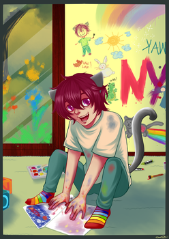 NyanCat in kindergarten by Domyrq