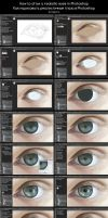 How to draw a realistic eyes in Photoshop by Kajenna