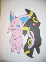 EspeonXUmbreon by CuteFlare