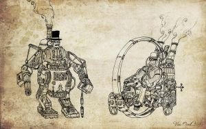 Steampunk Gentlemen by Van-Oost