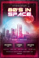 80s In Space Flyer by styleWish