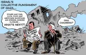Israel Collective Punishment by Latuff2