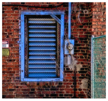 Slats Of Blue And A Blue Frame Too by rickster155