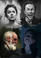 Face Studies 5 by AaronGriffinArt