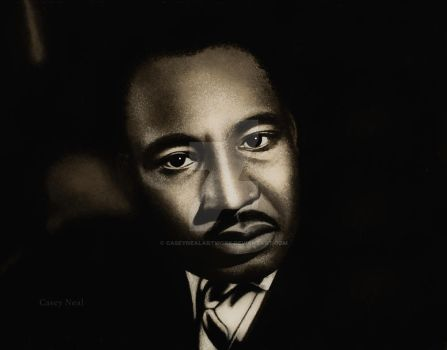 Martin Luther King Jr Charcoal Drawing by CaseyNealArtwork