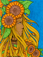 Sunflower Queen by JulieBeloussow