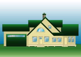 House Elevation in Illustrator by i64X