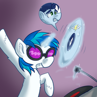 Dizzy Night with DJ and Soarin by ShapeshifterSoarin