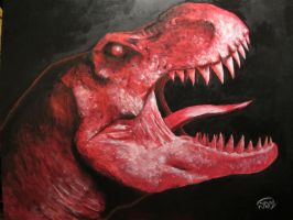 T Rex Rage by RushLightInvader