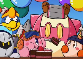 Happy 24th Anniversary, Kirby! by MixedUpMagpie