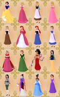 Disney Princess Alternates by InuyashaRules6596