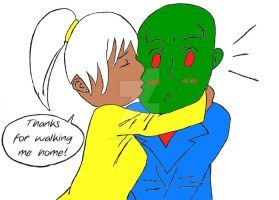 Teenage Tabitha and J'onn by Ms-Manhunter