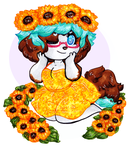 Sunflowers [YCH Commission] by CritterKat