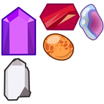 Gems based off of my real life gems by Mari-Golds