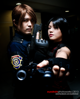 Resident Evil - Ada and Leon by riskbreaker