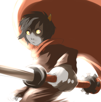 Karkat sketch by Kel-Del