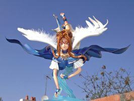 Belldandy Flying over Water 1 by ogamitaicho