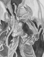 Malthael watercolor by Specterform537