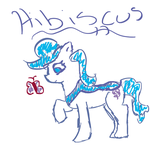 Fan Pony: Hibiscus by abbiecool22