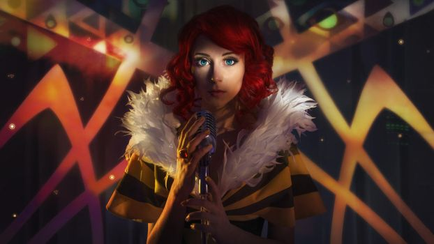 TRANSISTOR:  Hey, Red...    they stole your voice! by MiraMarta