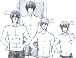 Four Shirtless Guys - FE:BtS by RoyLover