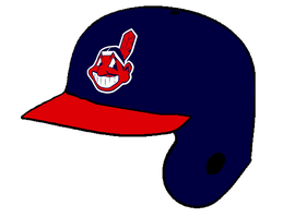 Cleveland Indians Home Batting Helmet by Chenglor55