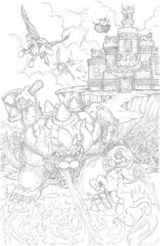 Super Mario commission - pencils by kyle-roberts