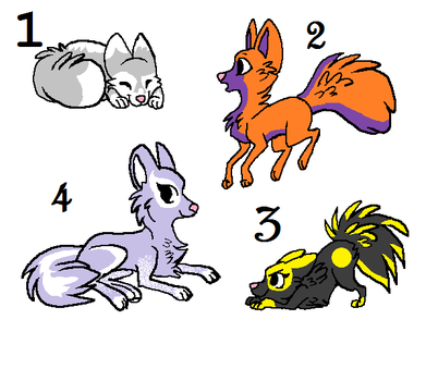 Wolf Pup Adoptables #1 by peytonisfree