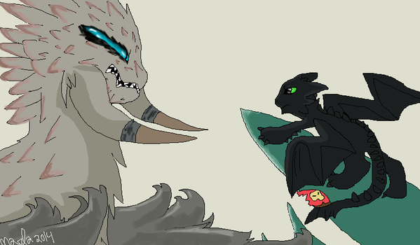 Toothless the Alpha by MarlakyoQueen